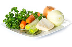 Fresh vegetables and herbs for soup Stock Photos