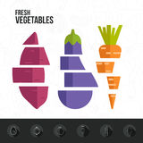 Fresh Vegetables Infographic Stock Photos