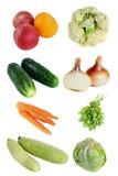 Fresh vegetables isolate royalty free stock photo