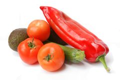 Fresh vegetables isolated Stock Photo