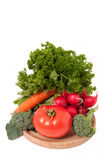 Fresh vegetables isolated Stock Images