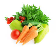 Fresh vegetables isolated Royalty Free Stock Photos
