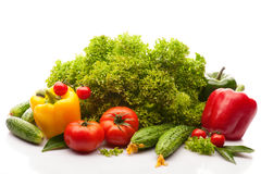 Fresh Vegetables Isolated Royalty Free Stock Photography