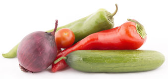 Fresh vegetables. On isolated background Royalty Free Stock Images