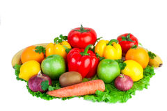 Fresh vegetables on isolated Royalty Free Stock Photography