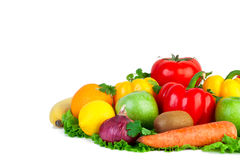 Fresh vegetables on isolated Stock Photo