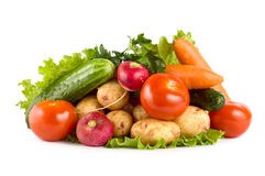 Fresh vegetables isolated on white Stock Photography