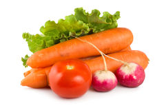 Fresh vegetables isolated on white Stock Photo