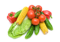 Fresh vegetables isolated on white background Stock Photo
