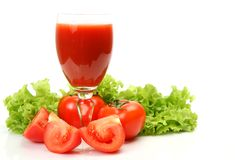 Fresh vegetables and juice Stock Photos