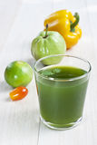 Fresh vegetables and juice Royalty Free Stock Images