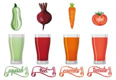 Fresh vegetables juice Stock Image