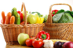 Fresh vegetables on kitchen table Stock Image