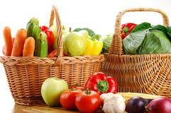 Fresh vegetables on kitchen table Stock Image