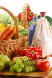 Fresh vegetables on kitchen table Stock Photography
