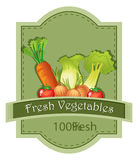 Fresh vegetables label Stock Photos