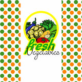 Fresh vegetables label design Royalty Free Stock Image