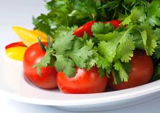 Fresh vegetables and leaves Stock Image