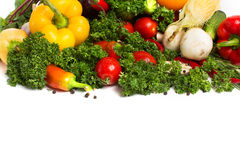 Fresh vegetables with leaves isolated Stock Photography