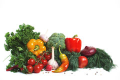 Fresh vegetables with leaves Stock Photos