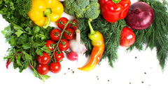 Fresh vegetables with leaves  Royalty Free Stock Photo