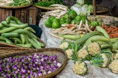 Fresh vegetables at a local market Royalty Free Stock Photo