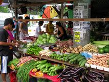 Fresh Vegetables at the Local Outdoor Market. Fresh vegetables at a local outdoor market in San Jose del Monte, Bulacan, Philippines royalty free stock photo