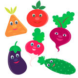 Fresh vegetables for logo and advertising grocery store and menu Stock Photos