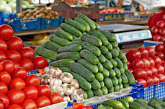 Fresh vegetables on the market Stock Images