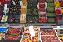 Fresh vegetables market Stock Image