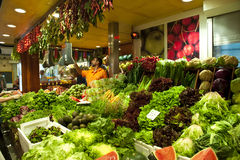 Fresh Vegetables on a Market Stock Photo