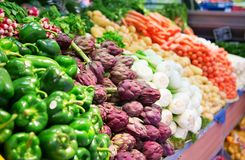 Fresh vegetables at market Stock Images