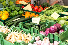 Fresh vegetables. On a market Royalty Free Stock Photo
