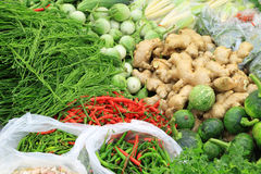 Fresh vegetables in market , Asia, Thailand Stock Image
