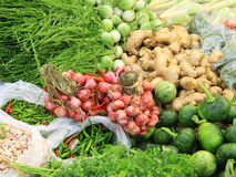 Fresh vegetables in market , Asia, Thailand Royalty Free Stock Image