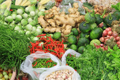 Fresh vegetables in market , Asia, Thailand Stock Photos