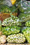 Fresh Vegetables in a market, bangkok. Royalty Free Stock Photo