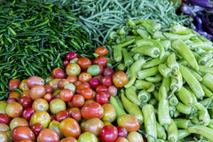 Fresh vegetables on the market Royalty Free Stock Photos