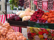 Fresh vegetables in a market. Royalty Free Stock Photography