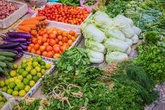 Fresh vegetables market, Luang prabang Stock Photo