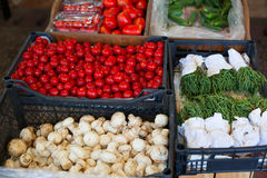 Fresh vegetables at market stock photography
