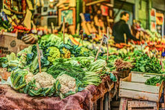Fresh vegetables at a market in Palermo Royalty Free Stock Photography