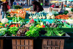 Fresh vegetables on the market. Some fresh vegetables at the market on very sunny day stock photography