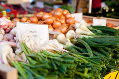 Fresh vegetables on a market stall Royalty Free Stock Photography