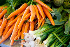 Fresh vegetables at market stall Royalty Free Stock Photography