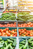 Fresh vegetables on market stall Royalty Free Stock Photo