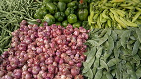 Fresh vegetables on the markets. Vegetables on the south markets of India Royalty Free Stock Photos