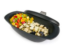 Fresh vegetables mix ready to be cooked Royalty Free Stock Photos