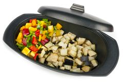 Fresh vegetables mix ready to be cooked Royalty Free Stock Image