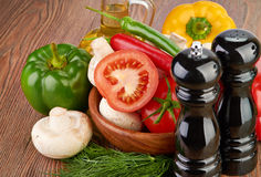 Fresh vegetables and mushrooms Stock Image